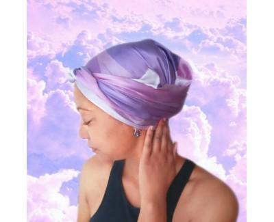 Amethyst Long Silk Hair Wrap Scarf