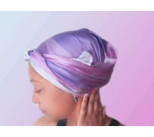 Amethyst Long Silk Hair Wrap Scarf